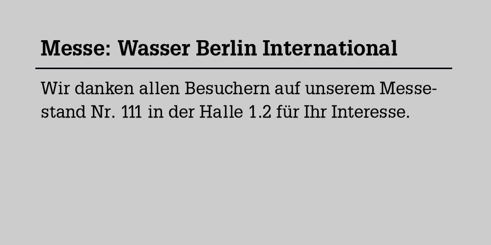 Blog: Messe Wasser Berlin International