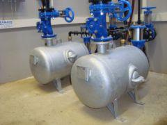 Arbeitskessel einer pneumatischen Abwasserförderanlage - System Oekermann