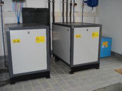 Arbeitskompressoren einer pneumatischen Doppelanlage