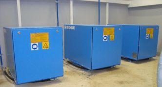Arbeitskompressoren eines pneumatischen Abwasserpumpwerkes