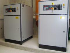 Arbeitsluftkompressoren eines Druckluftpumpwerks - System Oekermann