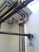 Druckleitungen innerhalb einer pneumatischen Abwasserförderanlage