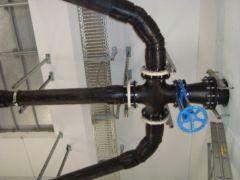Druckleitungen innerhalb eines Druckluftpumpwerkes - System Oekermann