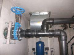 Druckseite eines pneumatischen Abwasserpumpwerks - System Oekermann