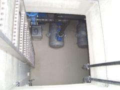 Einstieg einer pneumatischen Abwasser-Förderanlage in Bayern - System Oekermann