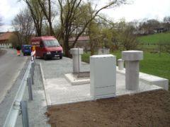 Pneumatisches Abwasserpumpwerk im ländlichen Raum in Bayern