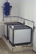 Steuerluftkompressoren einer pneumatischen Abwasser-Pumpstation